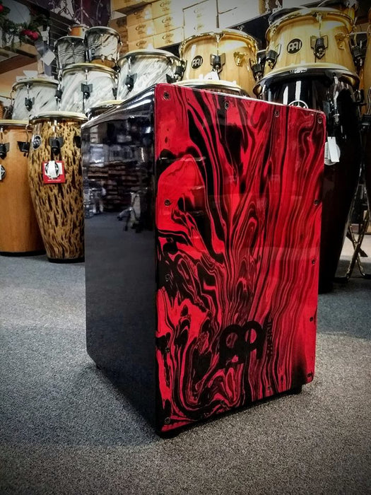 HEADLINER®CAJON, BK, RED MARBLE