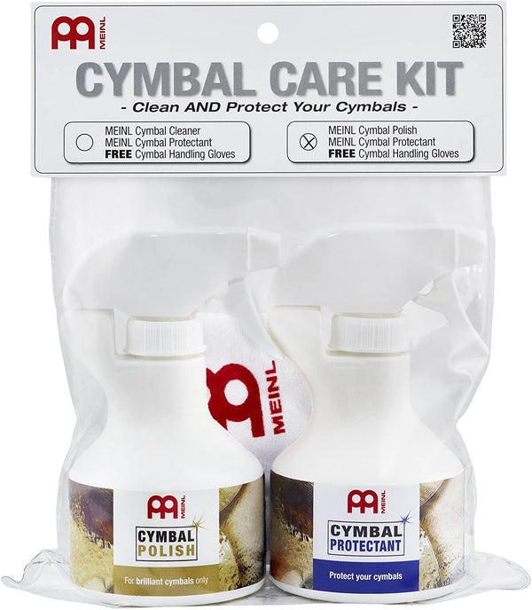 Meinl Cymbals Cymbal Care Kit with Cleaner and Polish - MADE IN GERMANY - Includes Handling Gloves (MCCK-MCP)