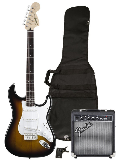 SQUIER by FENDER Stratocaster Guitar Package, Sunburst