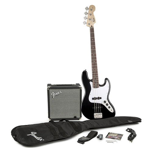 SQUIER by FENDER Jazz Bass Package V3, Black