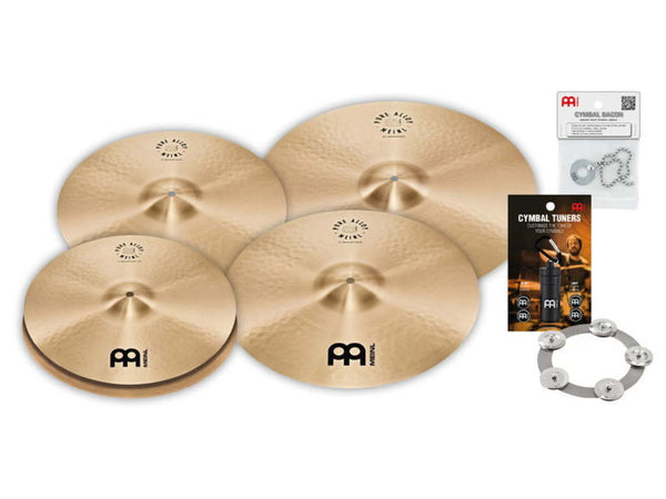 "Meinl Cymbal Set Pure Alloy Series, 14"" Hi-hat - 16"" & 18"" Crash - 20"" Ride"
