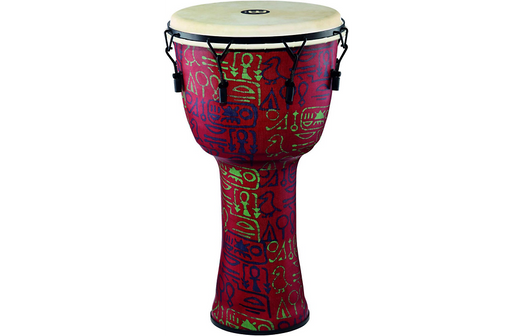 Meinl Mechanically Tuned Djembe with Synthetic Shell and Goat Skin Head 14 in. Pharaoh's Script