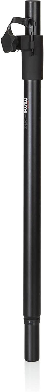 Gator Frameworks Standard Subwoofer Speaker Pole Mount with Adjustable Height (GFW-SPK-SUB60),Black