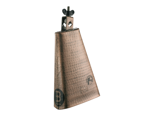 8-Inch Big Mouth Hand Hammered Steel Cowbell, Copper Color Finish