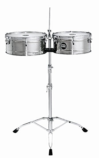 LC1STS Artist Series Luis Conte Signature Stainless Steel Timbales, 14-Inch and 15-Inch