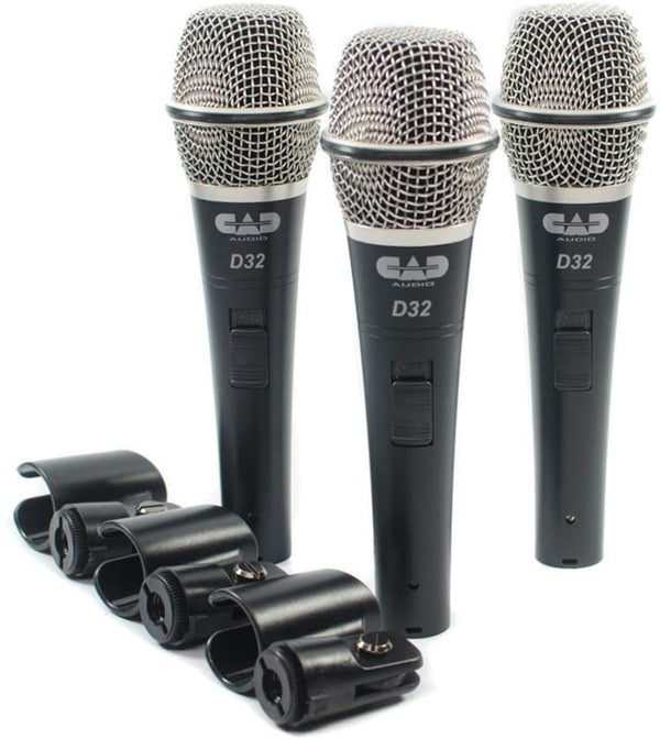 CAD Audio CADLive D32 Supercardioid Dynamic Microphone (3-Pack)