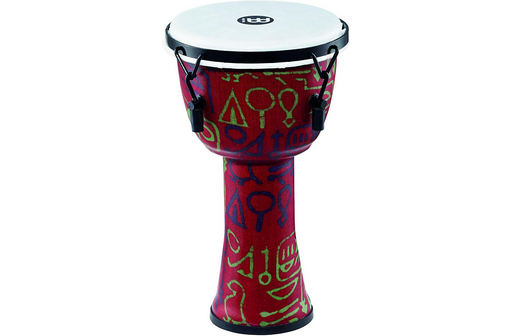 Meinl Mechanically Tuned Djembe with Synthetic Shell and Head 8 in. Pharaoh's Script