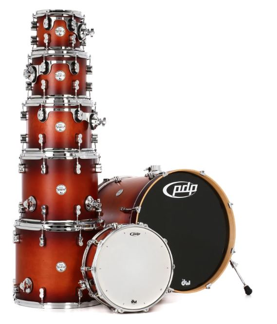 PDP Concept Maple Shell Pack - 7-piece - Satin Tobacco Burst