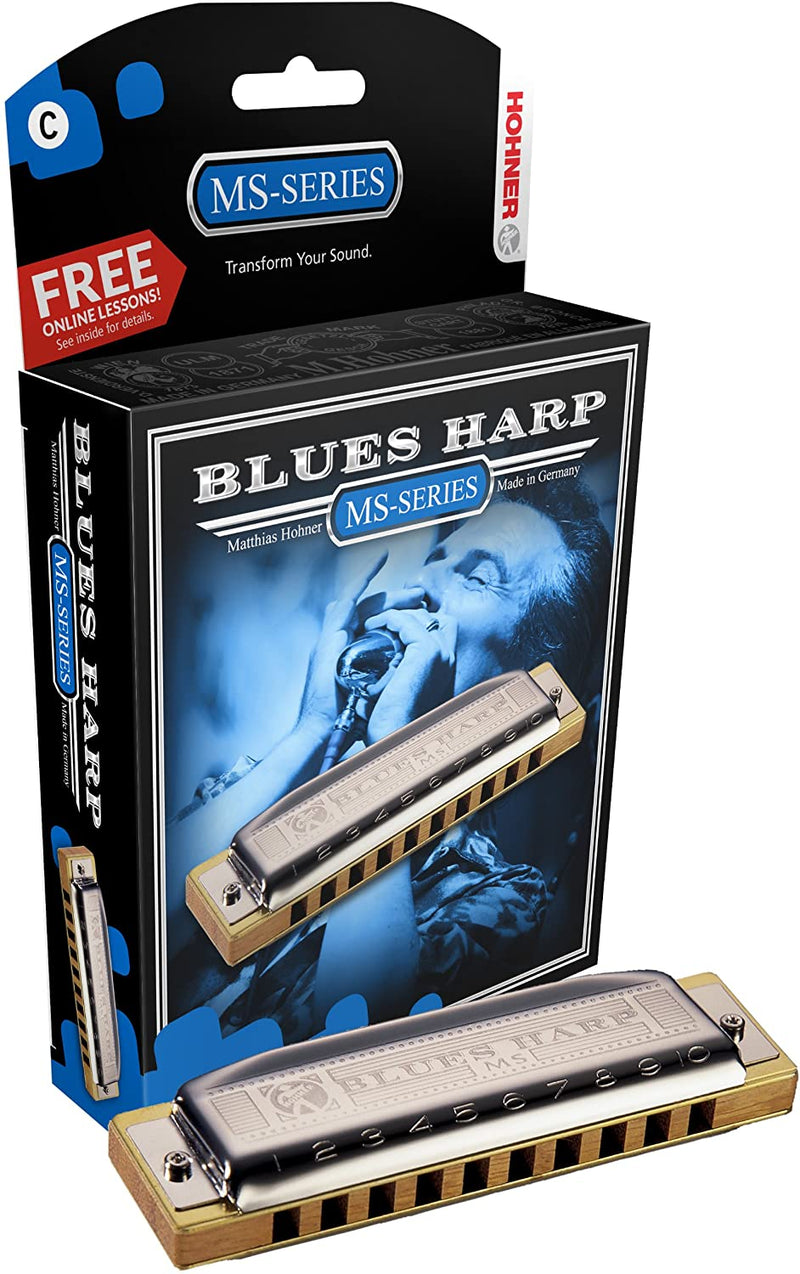 Hohner Blues Harp MS Modular System Diatonic Harmonica, B-major