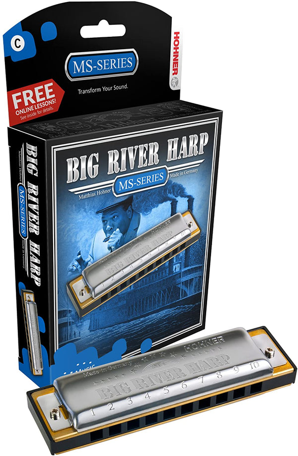 Hohner Modular System Big River Harp Diatonic Harmonica - Key of D