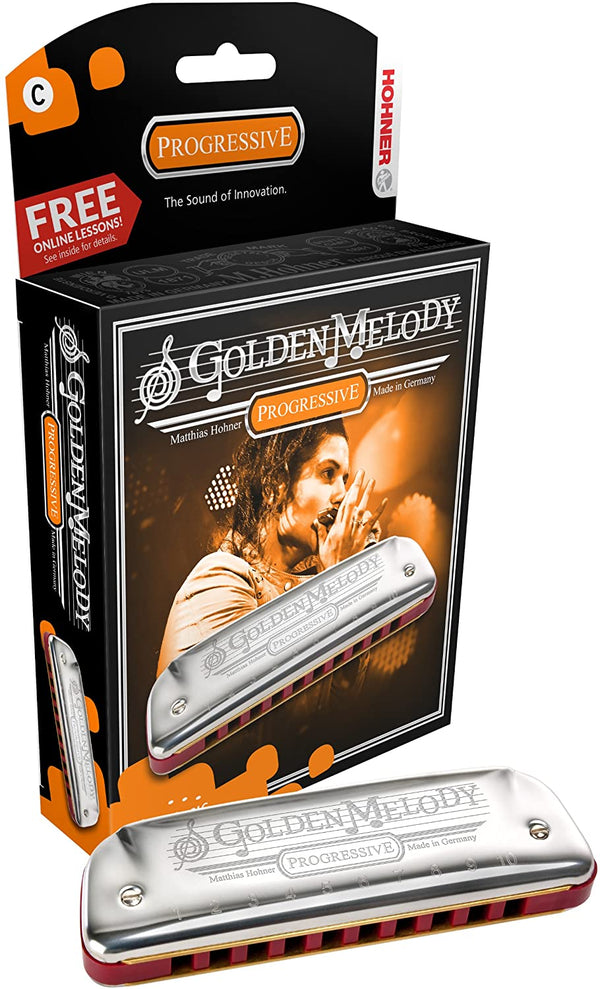 Hohner Golden Melody Diatonic Harmonica, Key of A