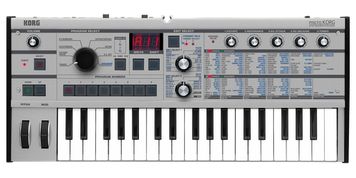 Korg microKORG PT 37-Key Synthesizer and Vocoder (Limited Edition Platinum)