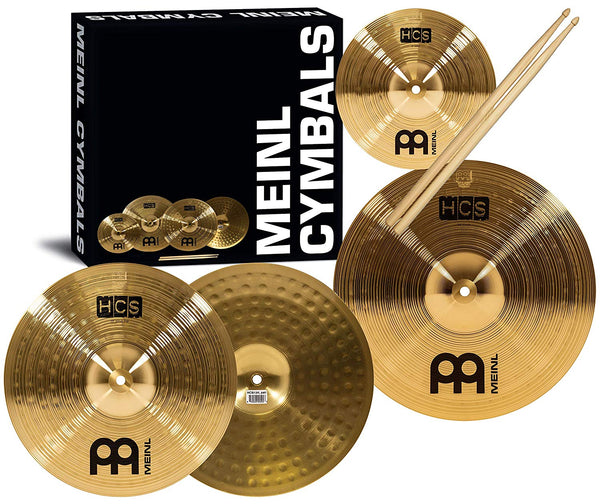 Meinl Cymbals HCS Cymbal Set Free splash, sticks and 3 free lessons