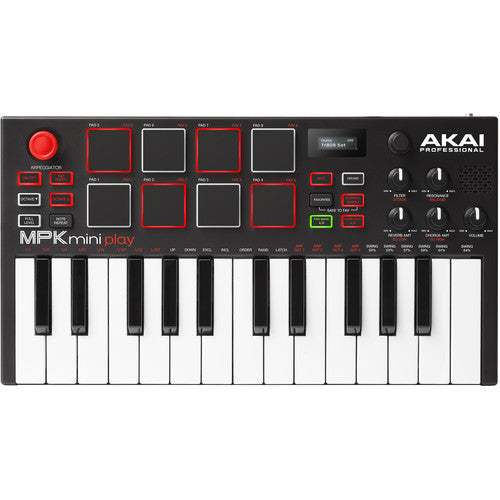 Akai Professional MPK Mini Play - Compact Keyboard and Pad Controller with Integrated Sound Module