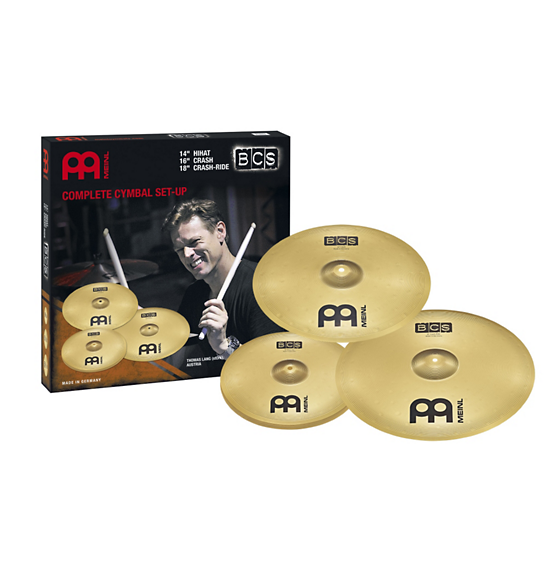 "Meinl BCS 14"" Hihat, 16"" Crash, 18"" Crash-Ride Cymbal Set"