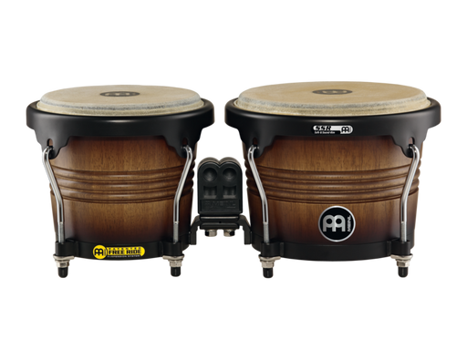 "Free Ride Series Wood Bongos, Antique Tobacco Burst Finish 6 3/4"" & 8"""