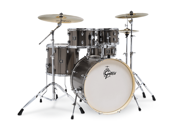 Gretsch Drums Energy 5-Piece Drum Set with Hardware - Brushed Grey