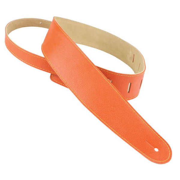 "Henry Heller 2"" Adjustable Luxe Capri Leather Strap Orange"