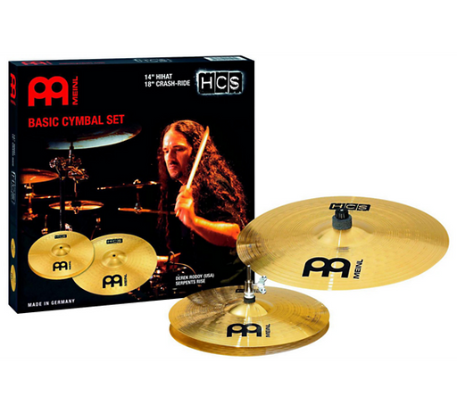 "HCS 14"" Hihat, 18"" Crash-Ride + Free 14"" Crash Cymbal Set"