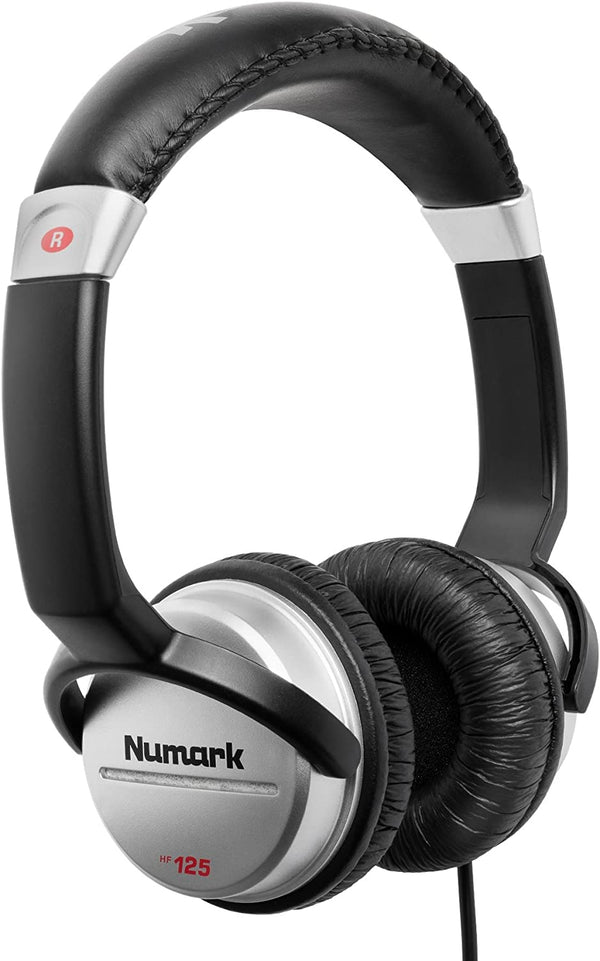 Numark HF 125 - Circumaural Closed-Back DJ Headphones with 7-Position Adjustable Earcups