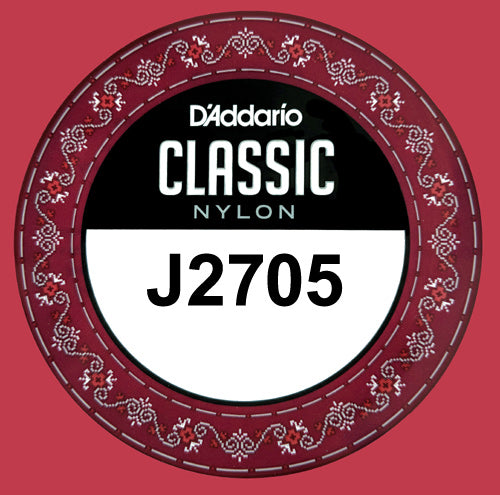 D'Addario J2705 Classic Nylon Normal Tension, 5th single A .035 Model: J2705