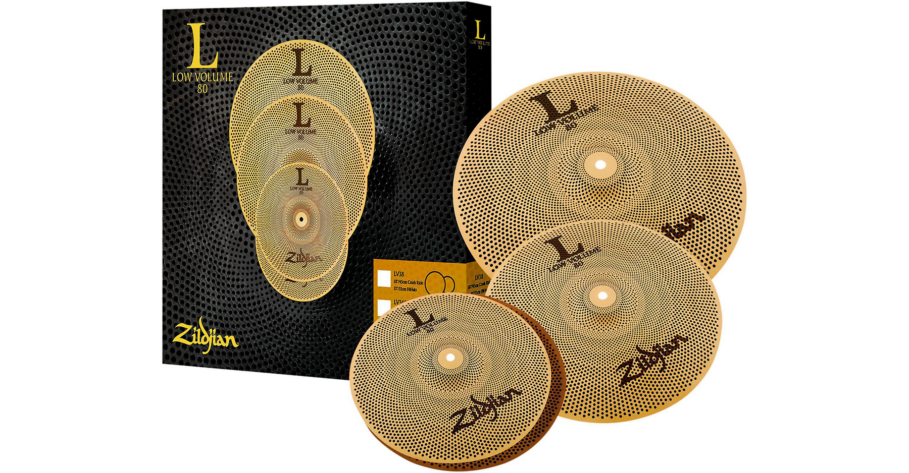 Zildjian L80 Low Volume LV348 Box Set