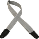 "Levy's 2 "" Adjustable Length Tweed Guitar Strap Suede Leather Ends White"