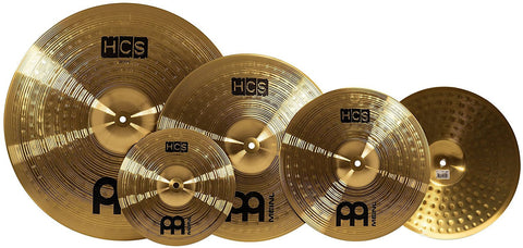 "HCS 14"" Hihat, 16"" Crash + 20"" Ride + Free 10"" Splash Cymbal Set"