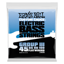 Ernie Ball Custom Gauge Group III 45-100 4 String Flatwound Electric Bass String Set