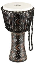 "Meinl 12"" Rope Tuned Travel Series Djembe Synthethic Head Kanga Sarong"