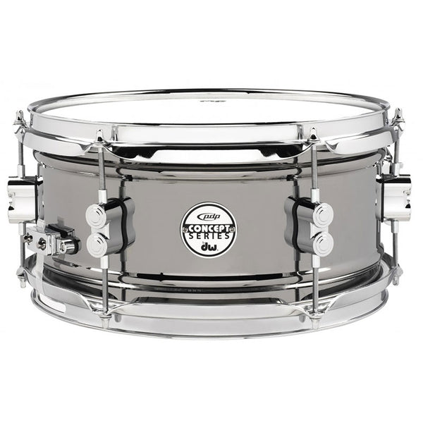 PDP Concept Series Black Nickel over Steel Snare with Chrome Hardware 6.5X14