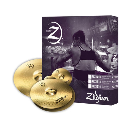 "PLANET Z 13"" Hi-Hat, 16"" Crash Cymbal Set"