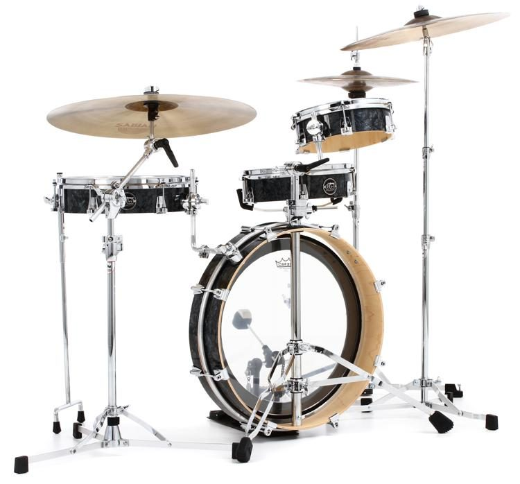 DW Performance Series Low Pro 4-piece Shell Pack - Black Diamond Finish Ply