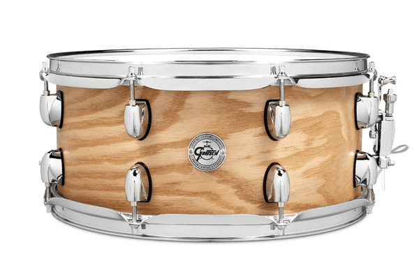 "Gretsch 7-Ply Ash Snare Drum 6.5"" x 14"" Satin Natural"