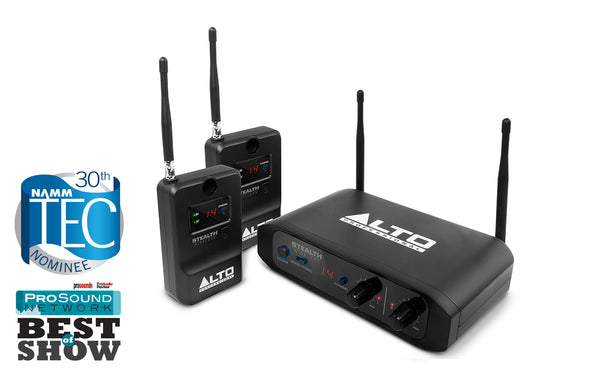 Alto Stealth Wireless System 2 Receivers & 1 Transmitter