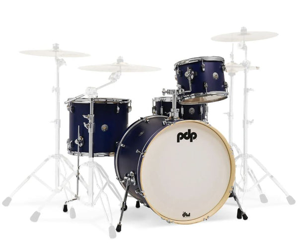 PDP by DW Spectrum Series 4-Piece Shell Pack with 22 in. Bass Drum Ultraviolet