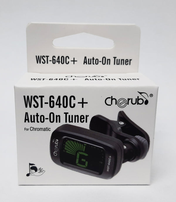 Cherub Clip-On Chromatic Tuner 3 Color Backlit LCD Display