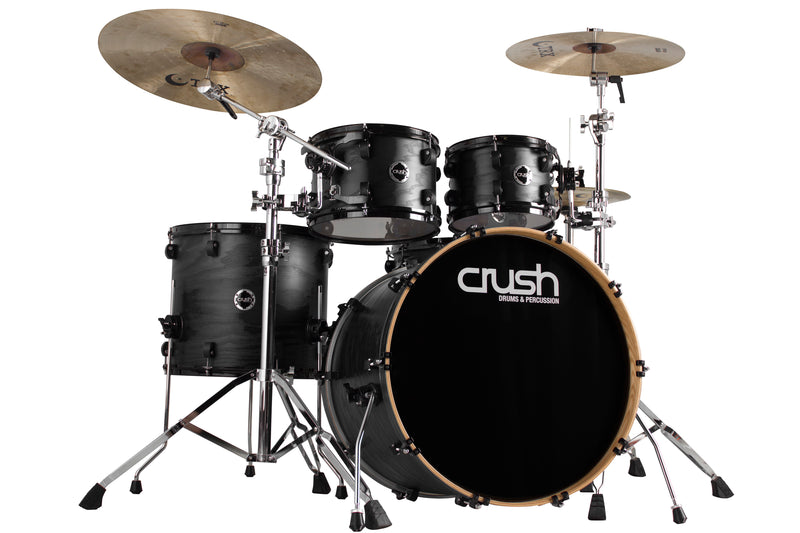 Crush Drums Chameleon Ash 5 Piece Shell Pack - Trans Satin Black C2A508201