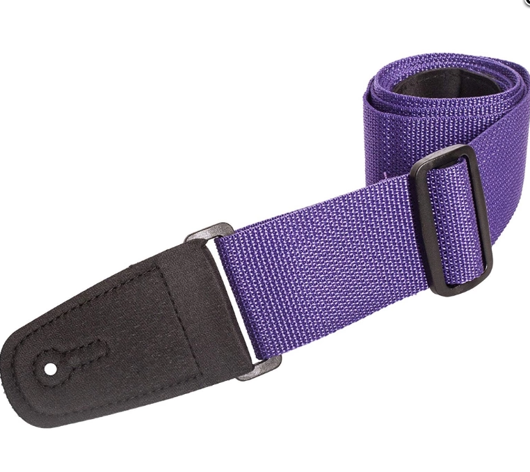 "Henry Heller 2"" Poly w/ Leather Ends extends to 58"" Purple Checkboard"