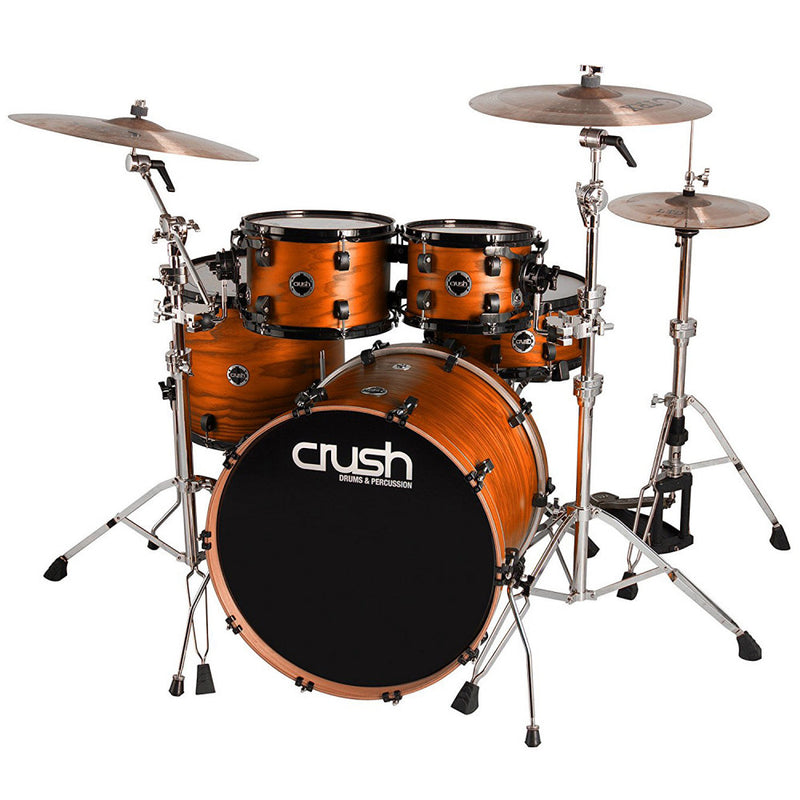 Crush Drums Chameleon Ash 5 Piece Drum Kit - Orange Satin