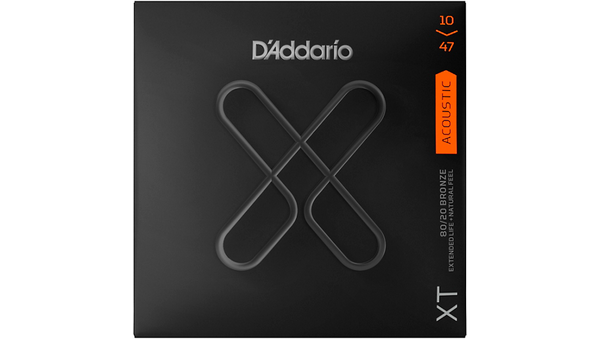 D'Addario XT Acoustic Strings, Extra Light, 10-47 80/20 Bronze