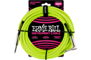 Ernie Ball 10' Straight to Angle Braided Instrument Cable Neon Green