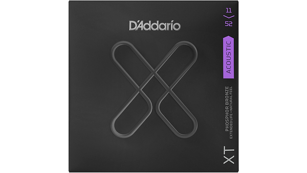 D'Addario XT Acoustic Phosphor Bronze Strings, Custom Light, 11-52