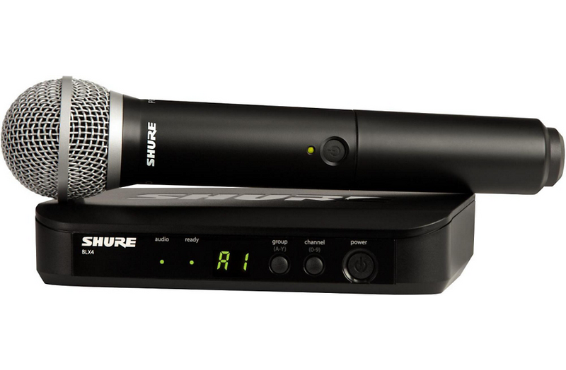 Shure BLX24/PG58 Handheld Wireless System with PG58 Capsule Band H9