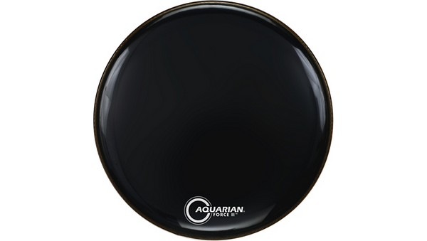 Aquarian Force II Resonant Bass Drum Head Black 22 in.