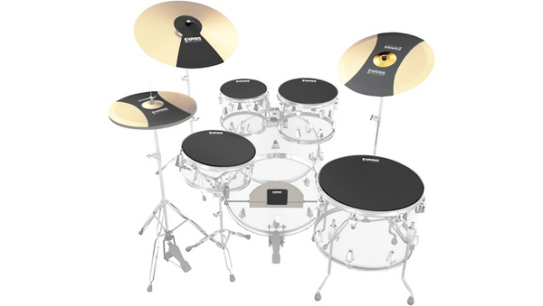 Evans SoundOff Drum Mutes Box Set Rock 10-12-14-16-22 Hi-hat and Cymbal