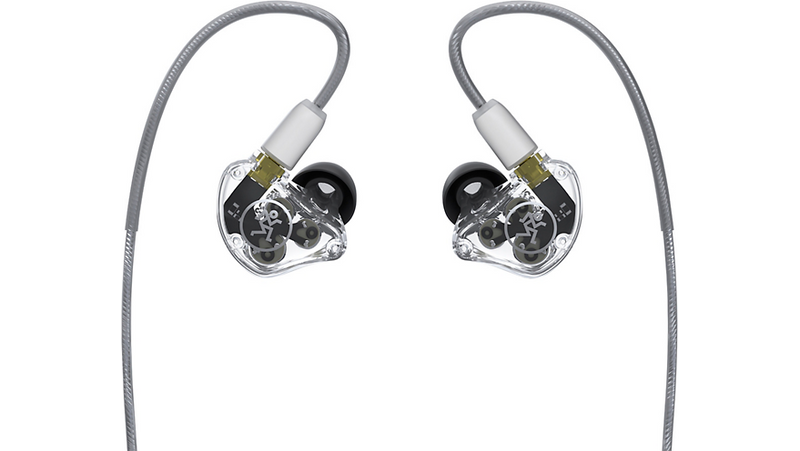 Mackie MP-320 In-Ear Monitors With Triple Dynamic Drivers Clear