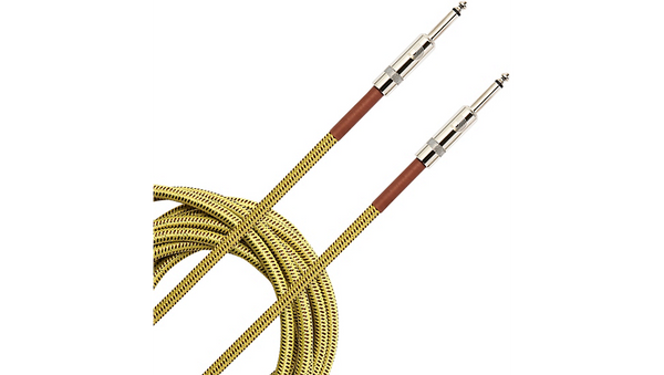 D'Addario Planet Waves Braided Instrument Cable 15 ft. Tweed