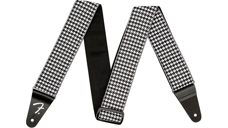 Fender Houndstooth Jacquard Guitar Strap White 2 in.