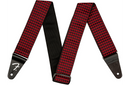 Fender Houndstooth Jacquard Guitar Strap Red 2 in.